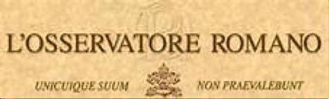Vatican newspaper L'Osservatore Romano